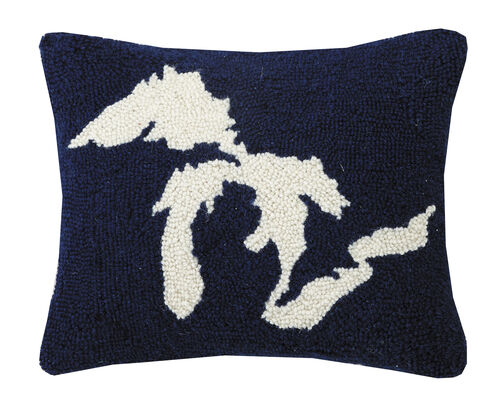 Great Lakes Hook Pillow