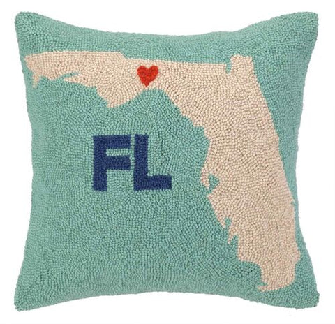 My Heart in Florida Hook Pillow