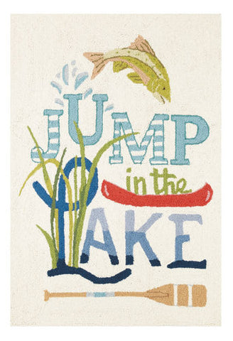 Jump in the Lake Hook Rug