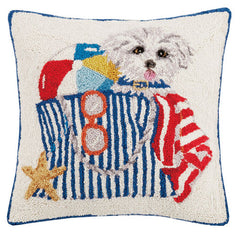 Puppy Beach Bag Hook Pillow