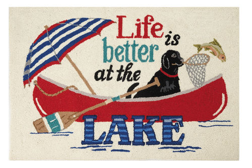 Life Is Better At The Lake Hook Rug