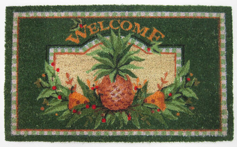 Welcome Pineapple Coirmat Rug