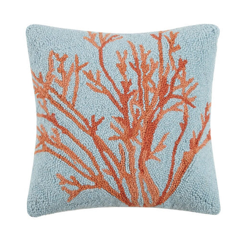 Red Coral Hook Pillow