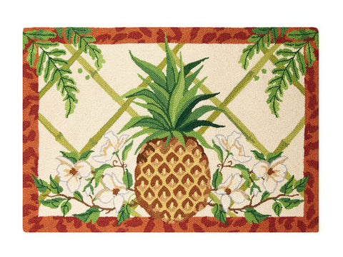 Fern Breeze Pineapple Hook Rug