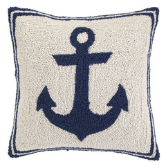 Blue Anchor Hook Pillow