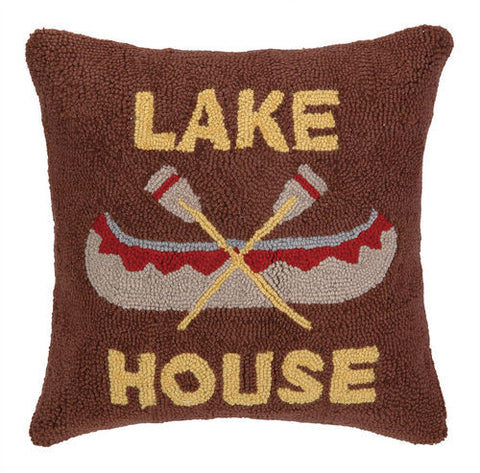 Lake House Canoe Hook Pillow