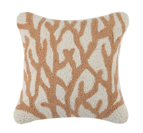 Coral Tan Hook Pillow