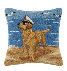 Golden Lab with Sailor Hat Hook Pillow