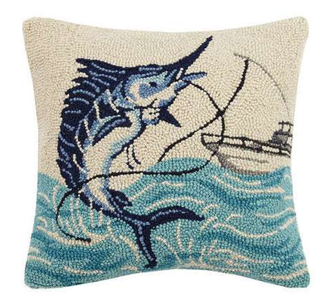Marlin and Boat Hook Pillow