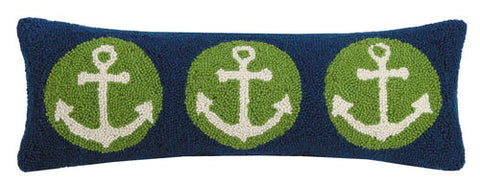 Anchor Circle Trio Hook Pillow