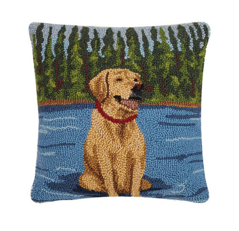 Lab Sit on the Lake Hook Pillow