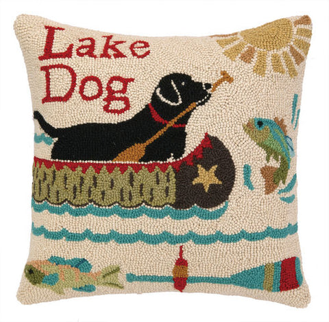 Lake Dog Hook Pillow