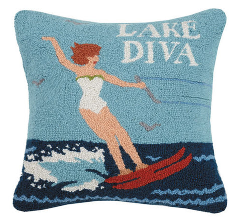 Lake Diva Hook Pillow