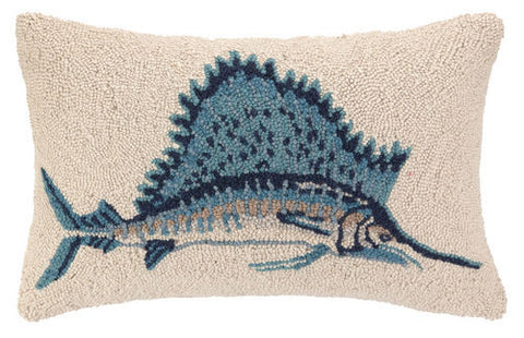 Sail Fish Hook Pillow