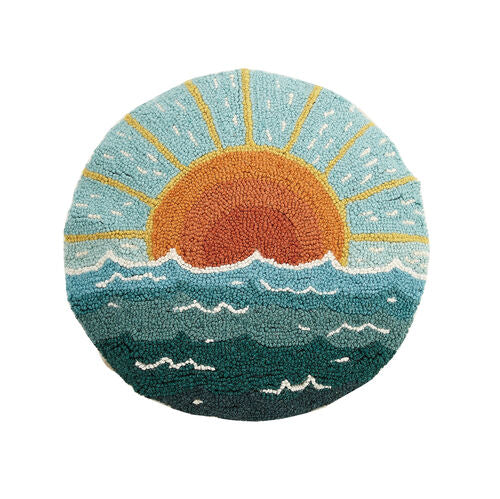 Circular Sun Seascape Hook Pillow