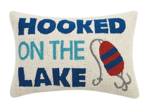 Hooked on the Lake Hook Pillow