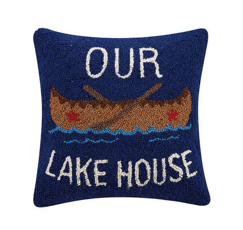 Our Lake House Hook Pillow