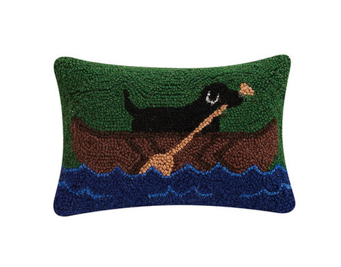 Lab in Canoe Hook Pillow