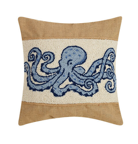 Octopus Burlap Hook Pillow