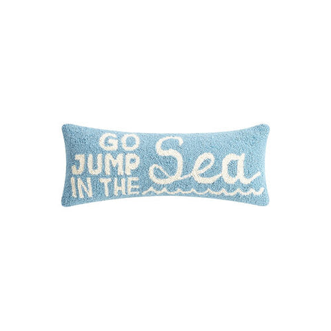 Go Jump in the Sea Hook Pillow