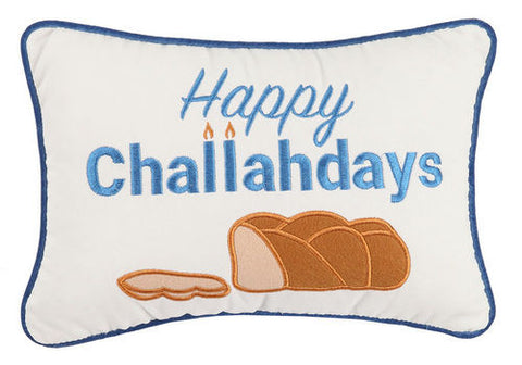 Happy Challahdays Velvet Pillow