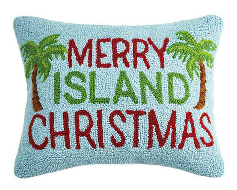 Merry Island Christmas Hook Pillow