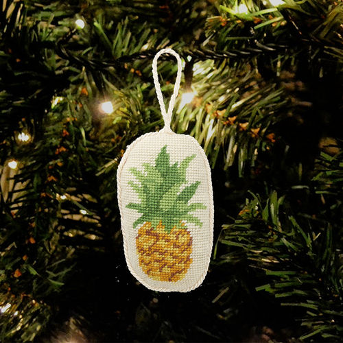 Pineapple Needlepoint Ornament