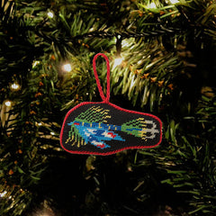 Fishing Lure Blue Needlepoint Ornament