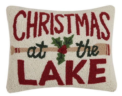 Christmas at the Lake Hook Pillow