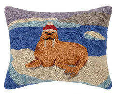 Holiday Walrus Hook Pillow