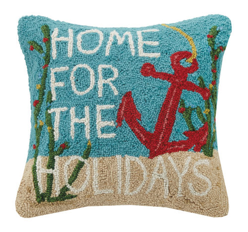 Home for the Holidays Hook Pillow