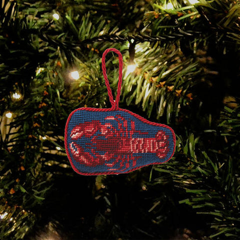 Lobster Needlepoint Ornament