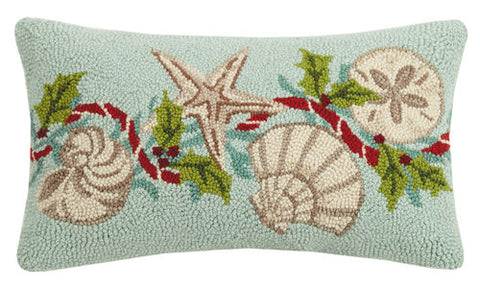 Holiday Shells Hook Pillow