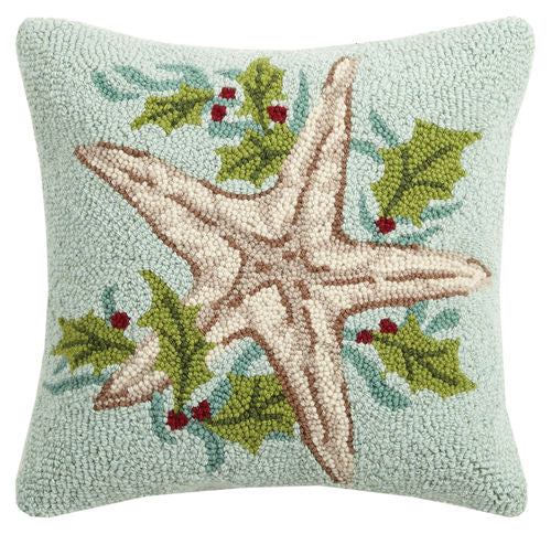 Holiday Sea Star Hook Pillow