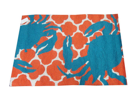 Blue Crab Hook Rug