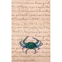 Male Blue Crab Kitchen Towel Set of 2