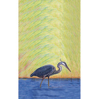 Blue Heron Kitchen Towel Set of 2