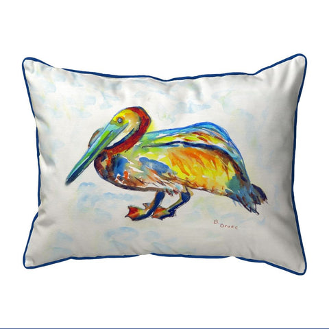 Betsy Drake Gertrude Pelican Small Pillow 11