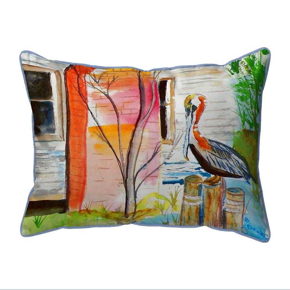 Betsy Drake Pelican Indoor/Outdoor Extra Large Pillow