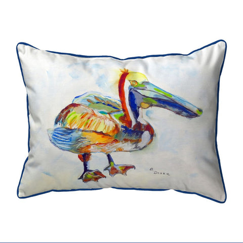 Betsy Drake Heathcliff Pelican Indoor/Outdoor Extra Large Pillow