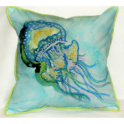 Betsy Drake Jelly Fish Pillow- Indoor/Outdoor