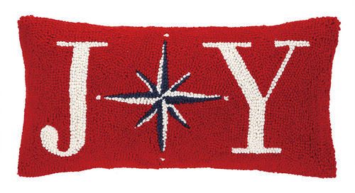 Joy Christmas Star Hook Pillow- Backordered Item!