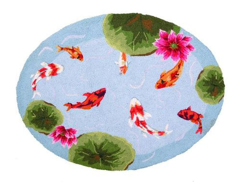 Koi Pond Hook Rug- Accent