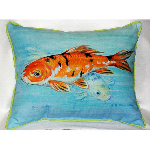 Betsy Drake Koi Pillow- Indoor/Outdoor
