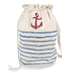 Anchor Sketch Duffle Laundry Bag - Cobalt