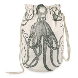 Octopus Duffle Laundry Bag - Charcoal