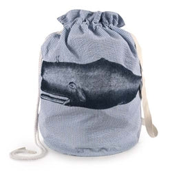 Moby Seersucker Duffle Laundry Bag - Ink