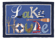 Lake House Hook Rug- Accent- Backordered Item!