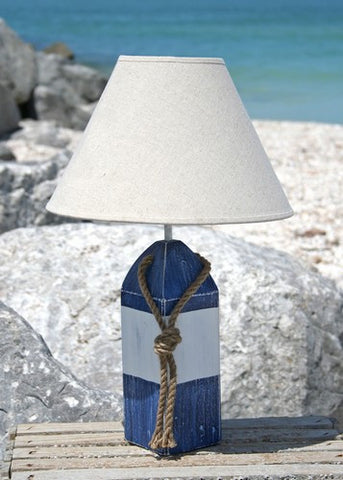 Buoy Lamp- Blue/White/Blue