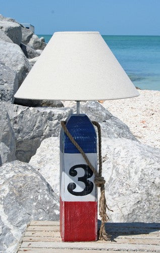 Red, white, and red buoy lamp